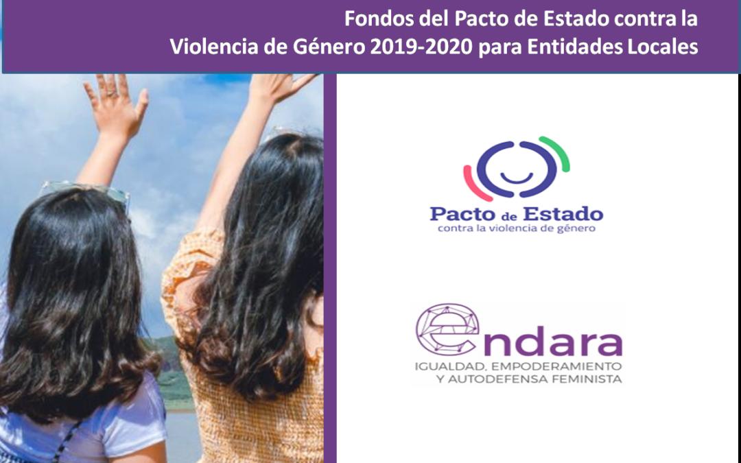 Nuevos Fondos del Pacto de Estado contra la Violencia de Género 2019-2020 para Entidades Locales