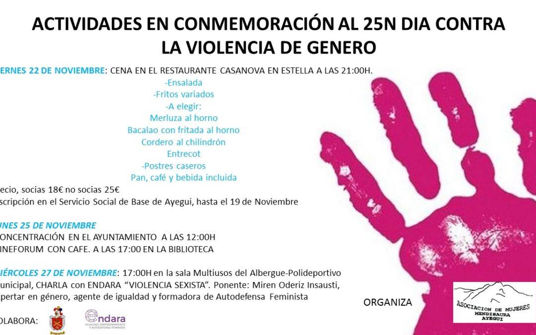 Charla sobre Violencia Sexista en la Asociación Mendizaura de Ayegui