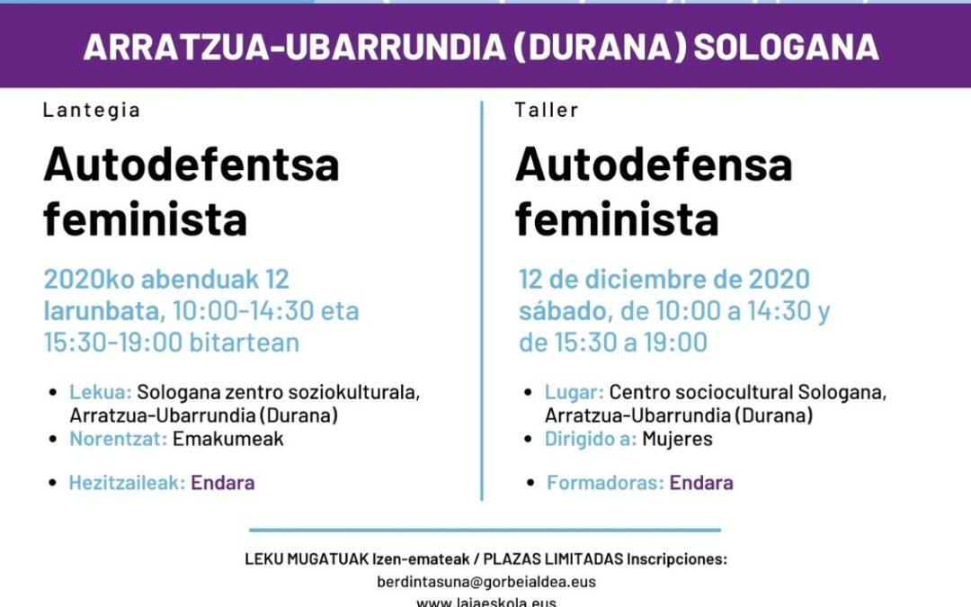 Taller Autodefensa Feminista en Durana