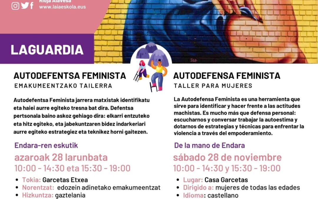 Taller Autodefensa Feminista en Laguardia